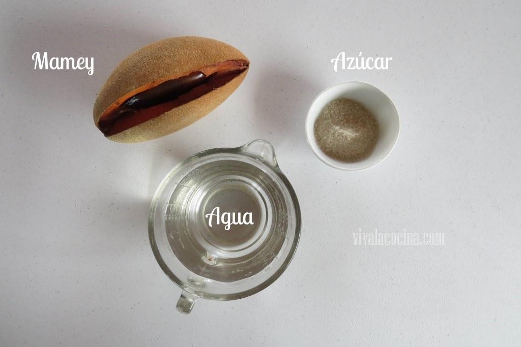 Ingredientes del Agua de Mamey