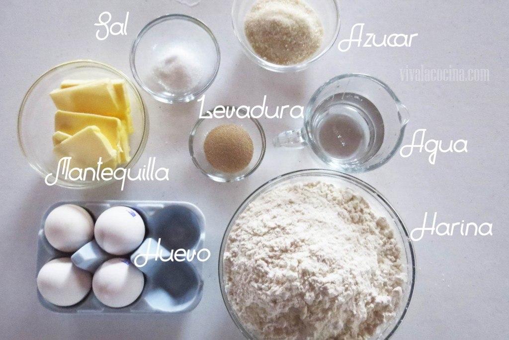 Ingredientes receta berlinesas con crema pastelera