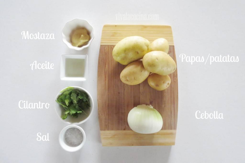 Ingredientes para la receta de las papas rostizadas