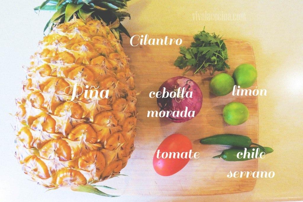 Ingredientes para la receta de la Salsa de Piña