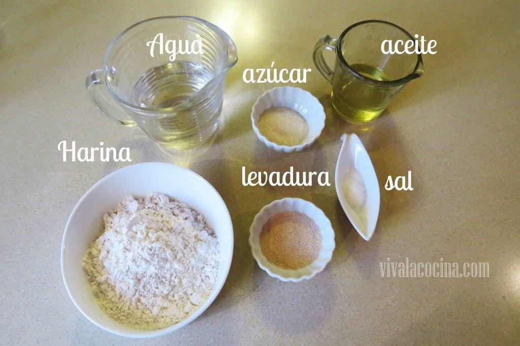 Ingredientes para la Masa de Calzone de chorizo