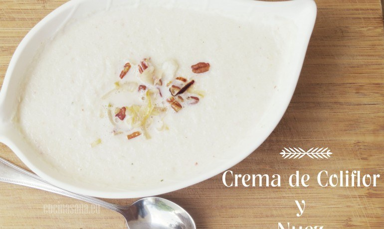 Tercera receta: Crema de Coliflor