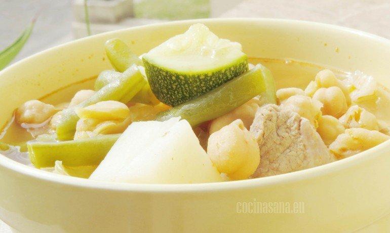 Primera de las recetas con garbanzo: Cocido de res con garbanzos