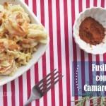 Pasta fusilli cremosa con Camarones o Gambas