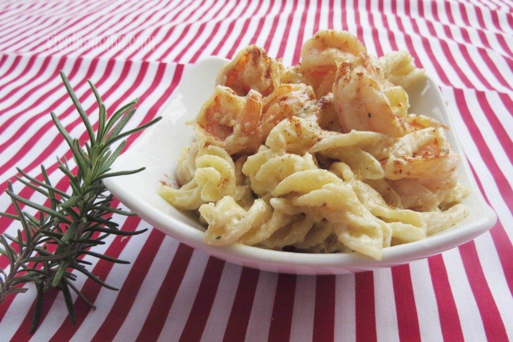 camarones y pasta