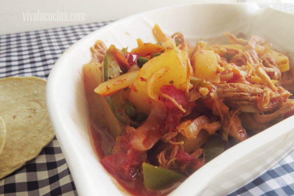 Carne de Cerdo con Chile guajillo recien hecha