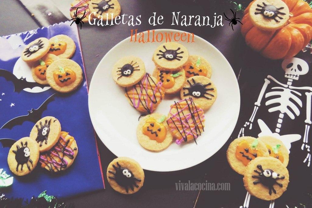Receta de Galletas de Naranja para Halloween