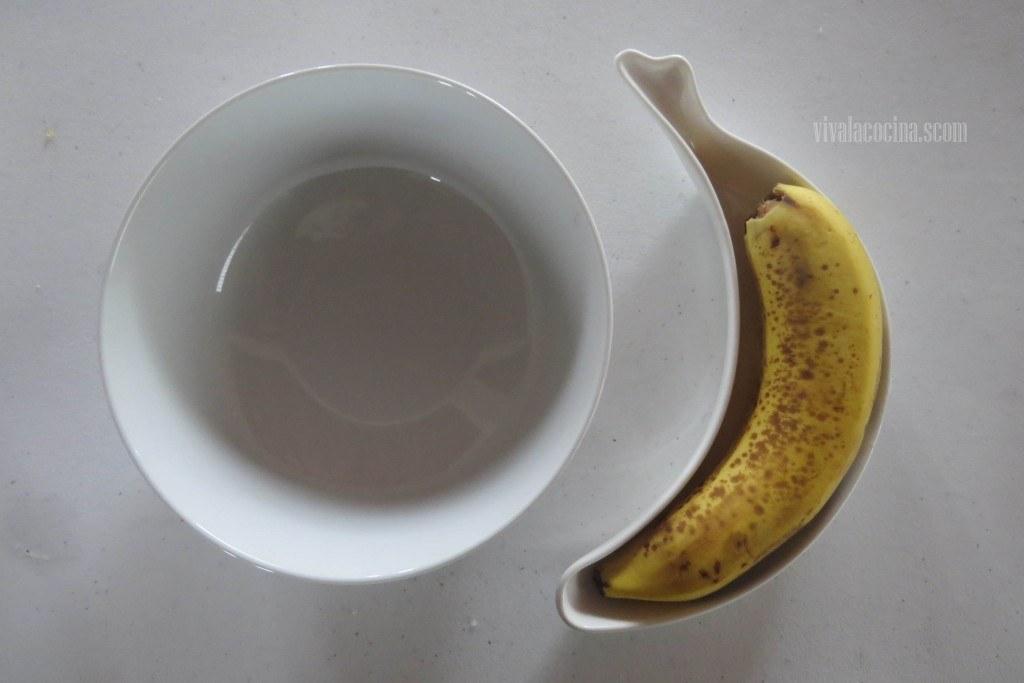 Receta casera de Panqué de plátano y calabaza: Hacer pure