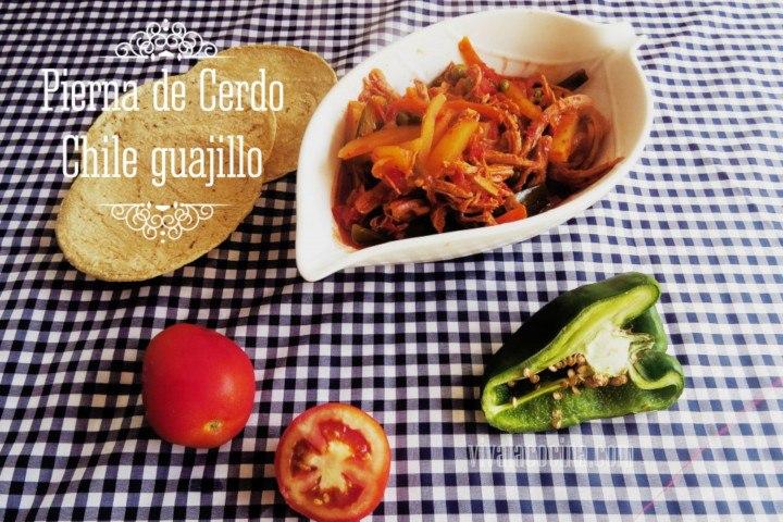 Receta de Pierna de Cerdo con Chile Guajillo