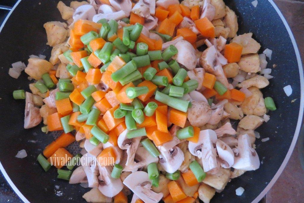 Agregar las Verduras
