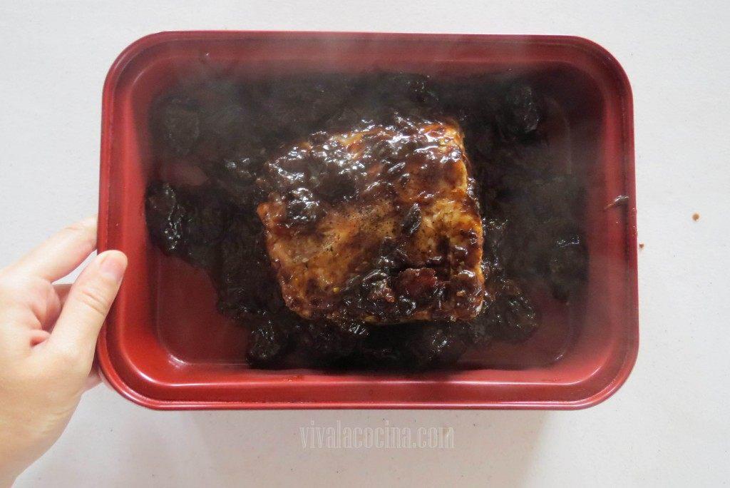 Colocar la Salsa para el lomo de cerdo al horno