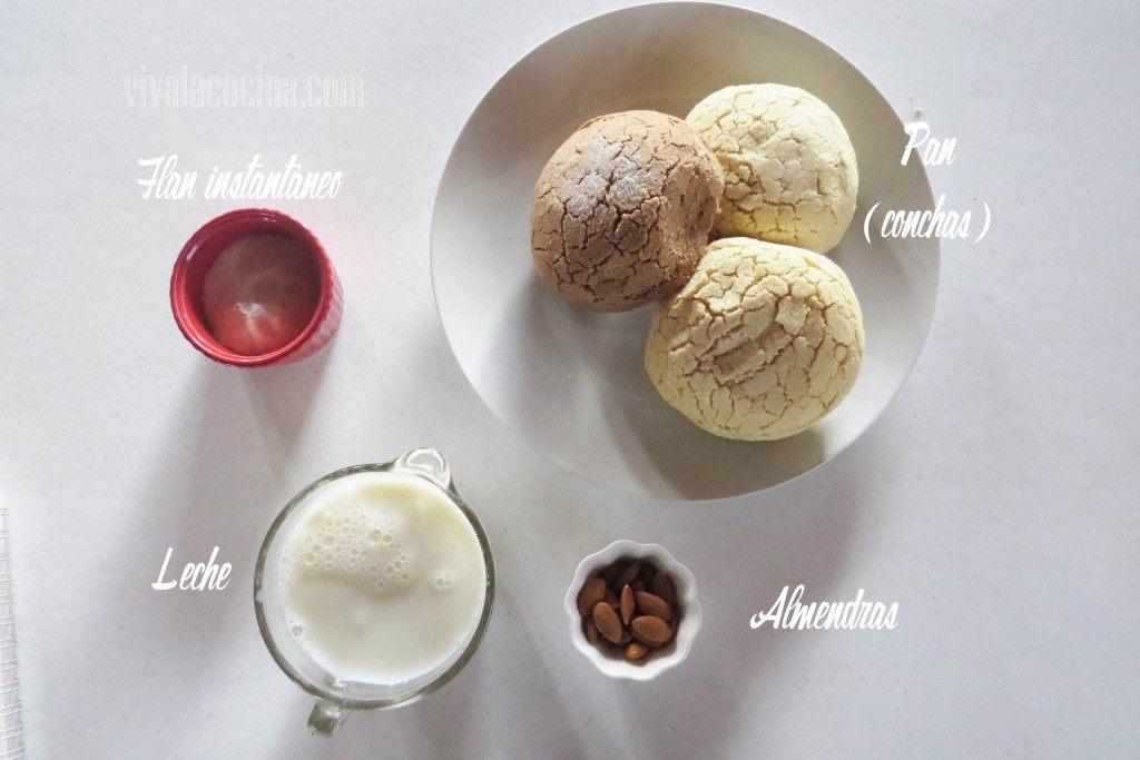 Ingredientes para preparar el Budín de Pan Rápido