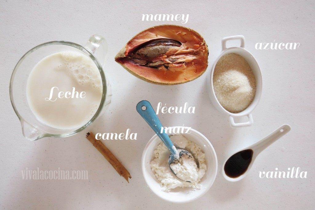 Ingredientes para preparar el Atole de Mamey