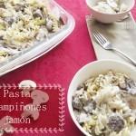 Pasta con Champiñones y Jamón: RECETA FÁCIL