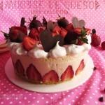 Mousse de Queso y Fresas con Bizcocho de Limón: Receta San Valentín postre