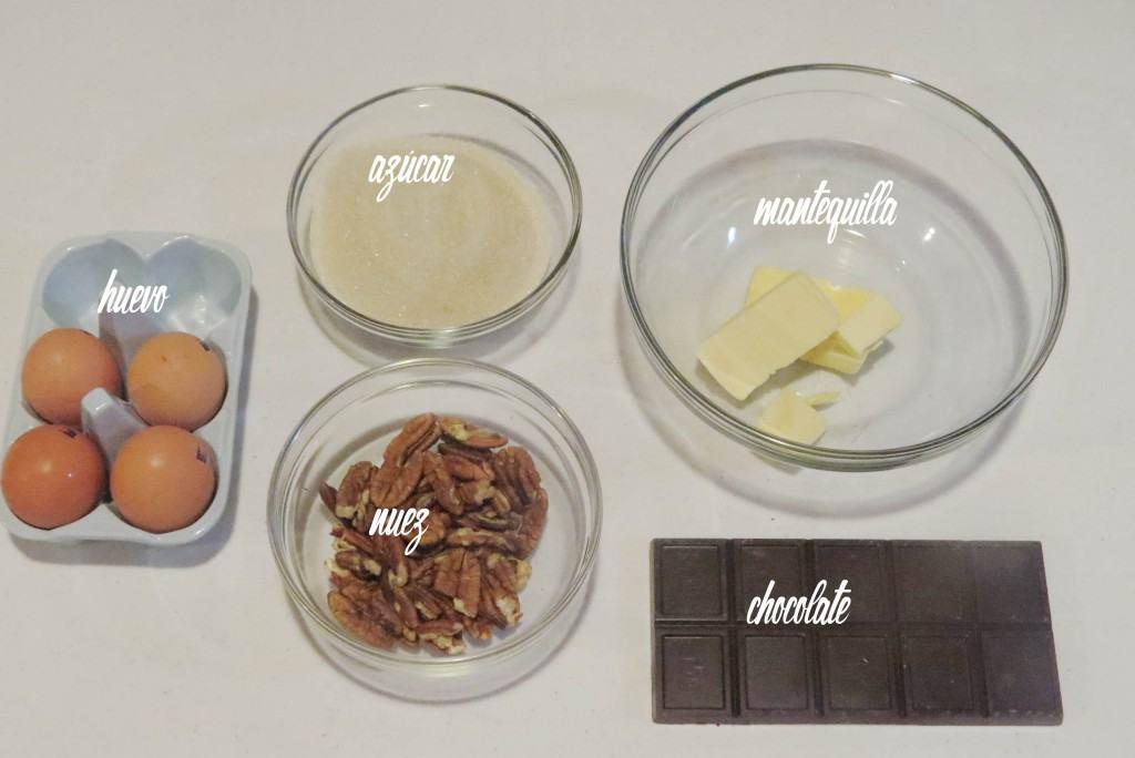 Ingredientes para el Pastel de Chocolate con Nueces Sin Gluten