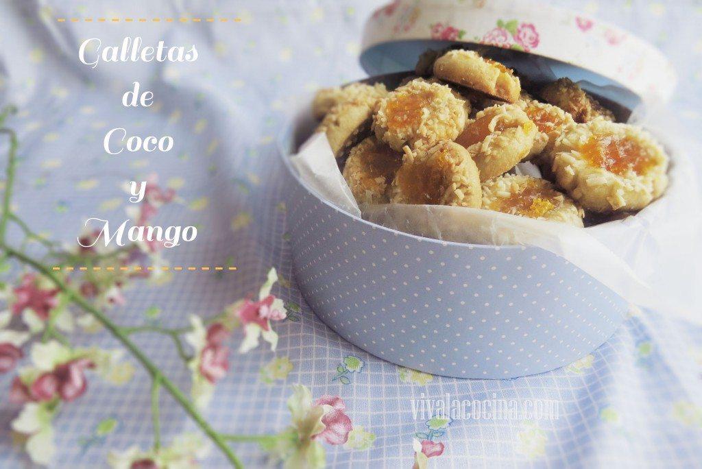 Galletas de Coco y Mermelada de Mango: una receta diferente