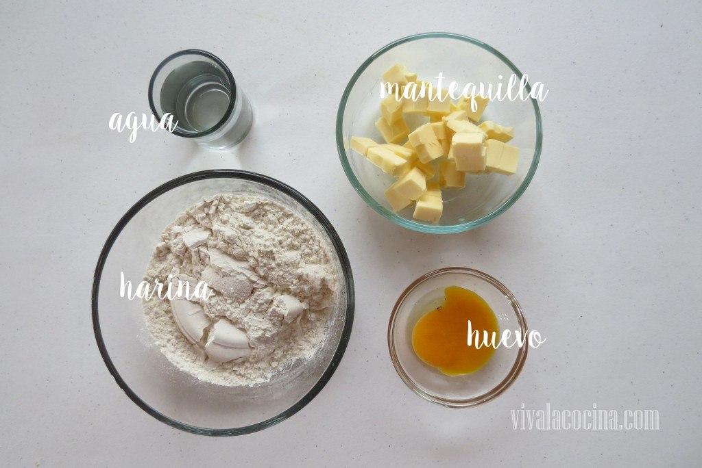 Ingredientes para preparar la receta de Quiche de Queso y Cebolla