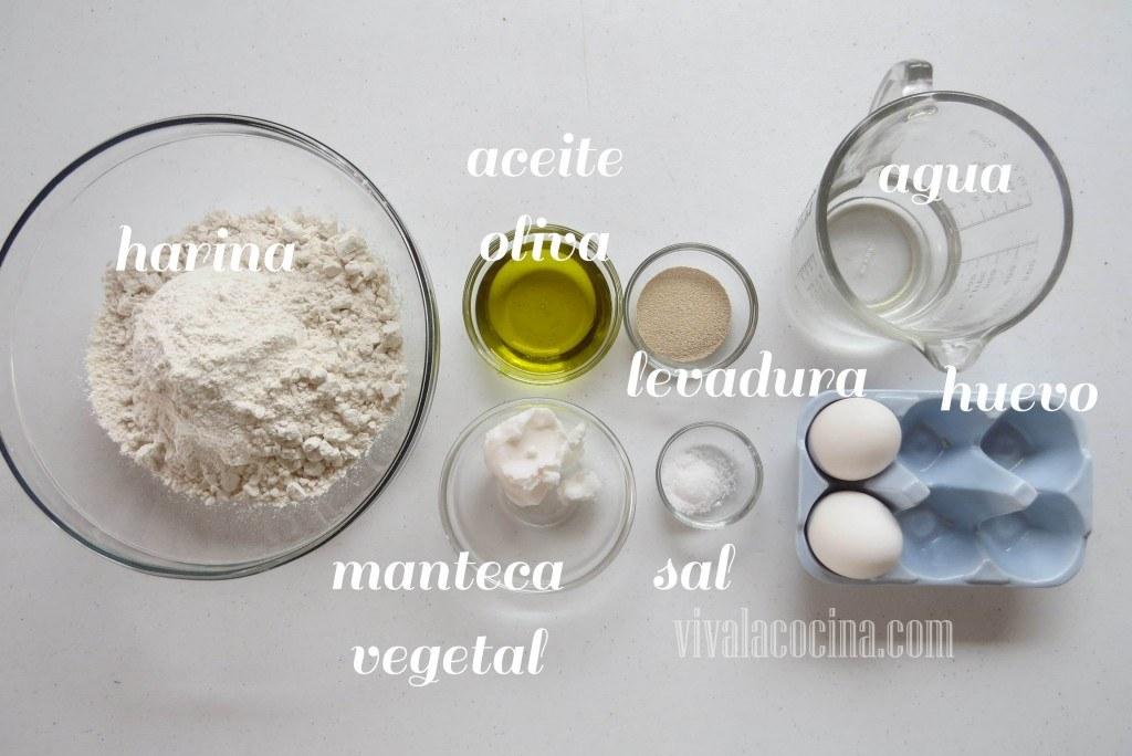 Ingredientes para preparar la receta de Empanadas Horneadas Rellenas de Guiso de Camarón (gambas)