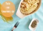 Espagueti con Camarones en Salsa de Crema y Ajo