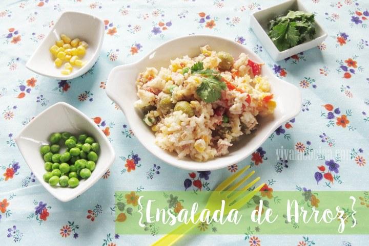 Fresca ensalada de arroz con at n y aceitunas - Ensalada de arroz y atun ...