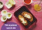 Pollo Con queso Parmesano y Queso de Cabra: