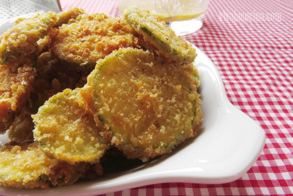 Receta de Frituras de Calabacín con Queso Parmesano: detalle