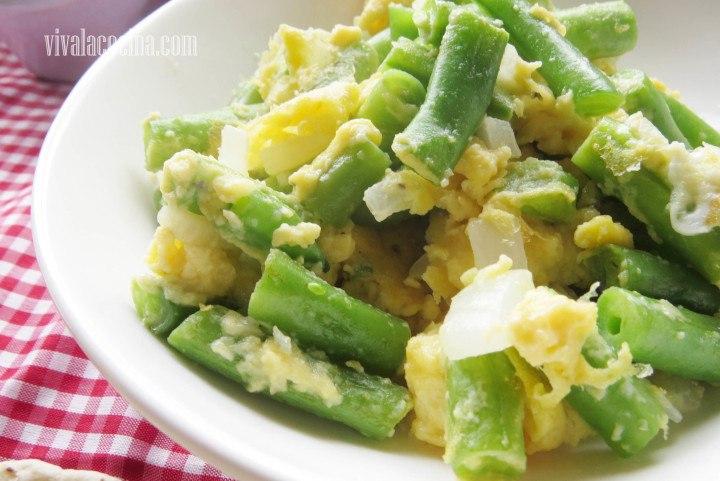 Receta de huevos batidos con ejotes o jud as verdes - Como preparar las judias verdes ...