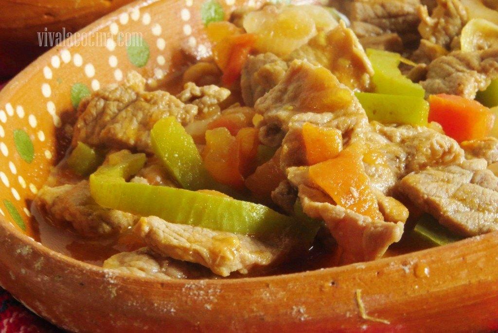 Bistec con Verduras a la Mexicana: detalle del platillo