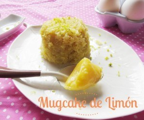 Mugcake o Pastel en Taza de Limón y Lemon Curd