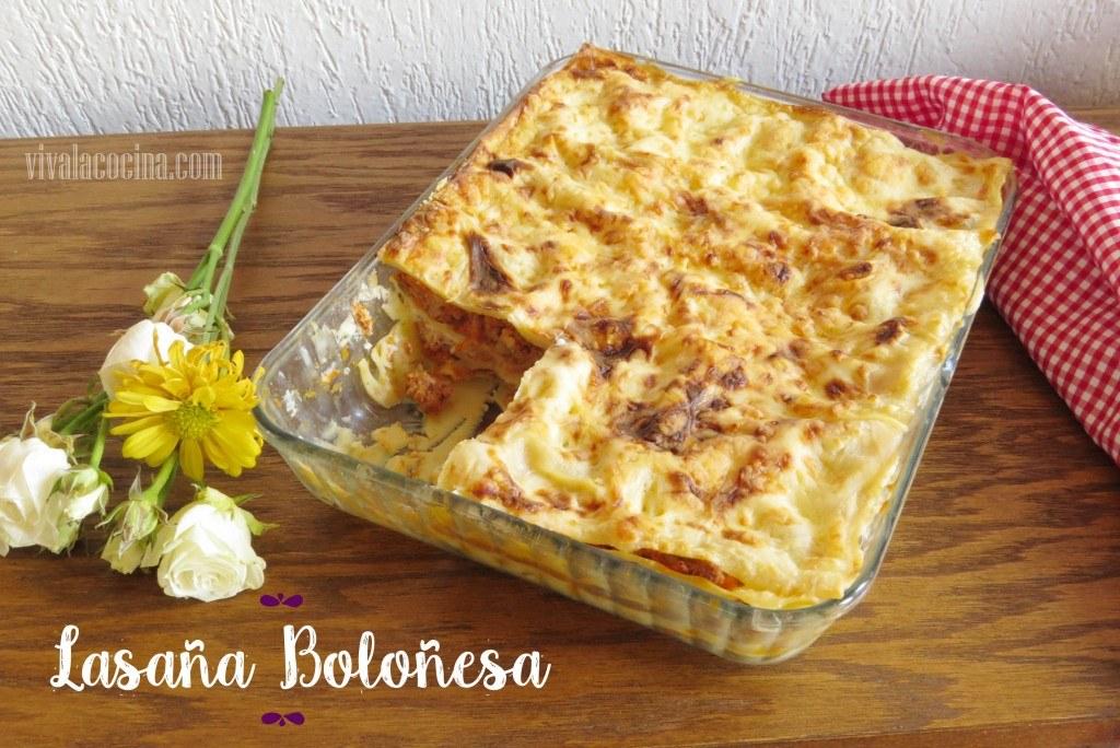 Cómo preparar Lasaña Boloñesa