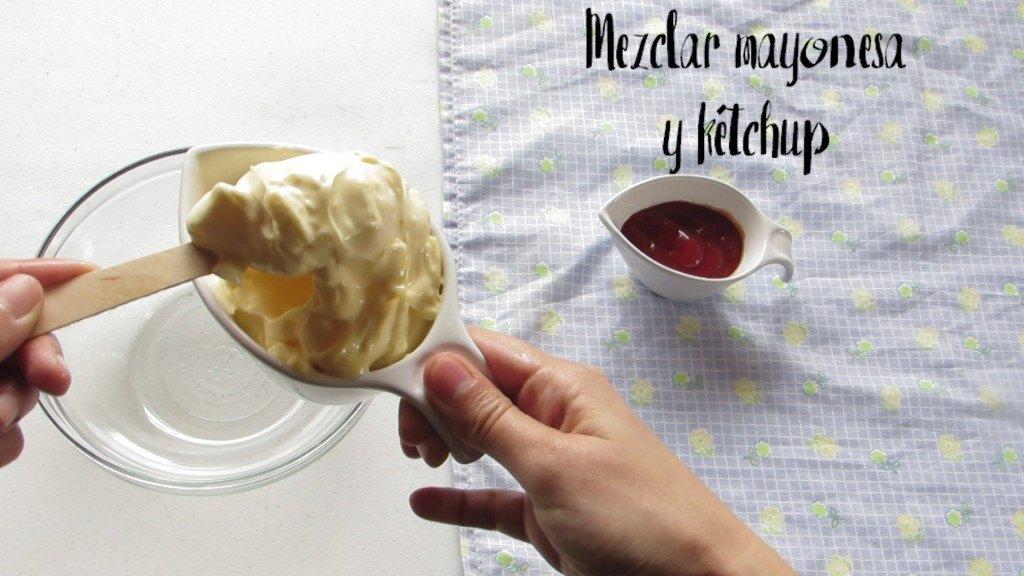 mezclar mayonesa