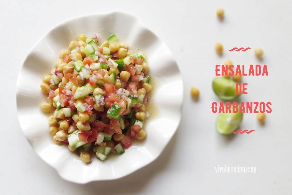 Ensalada Fresca de Garbanzos y Tomate