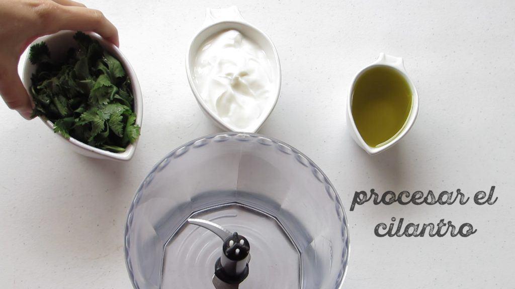 procesar el cilantro