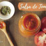 Salsa de Tomate Casera para Pasta o Pizza