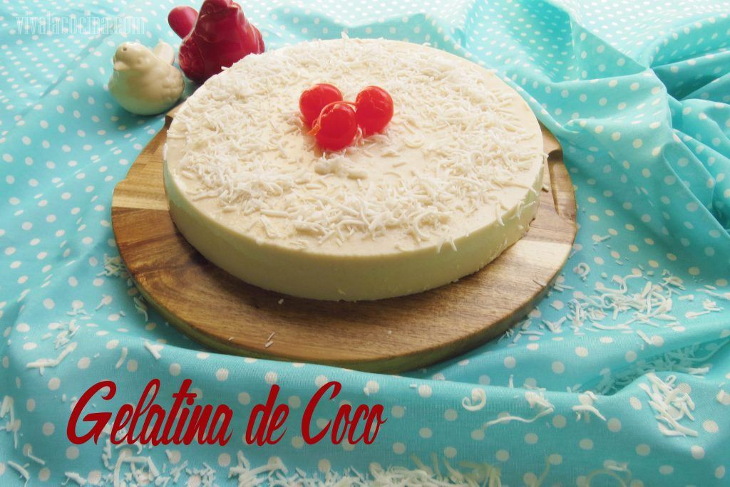 gelatina de coco