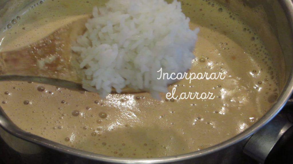 incorporar arroz