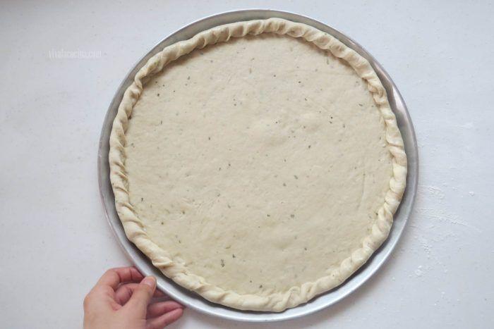 molde pizza de chorizo