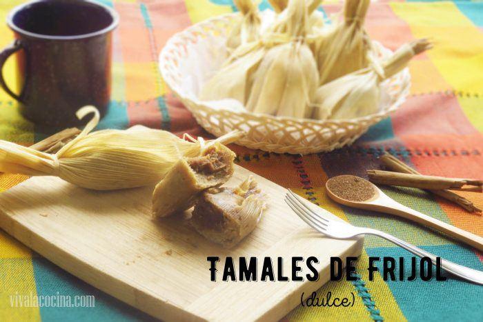 Tamales de frijol dulce