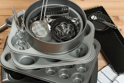 Utensilios y moldes de cocina para pastelería