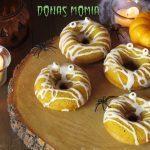Donas de Calabaza Decoradas como momias: Receta de Halloween