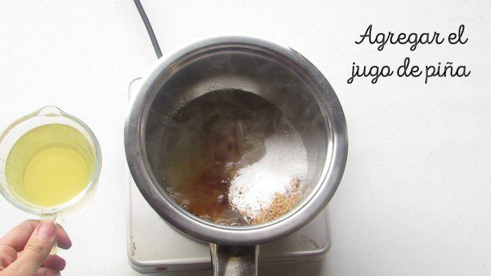 jugo de piña para la salsa agridulce