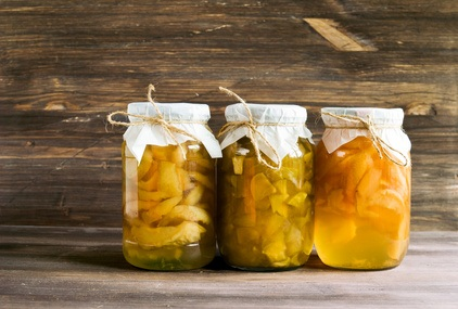 Conservar las frutas en almíbar
