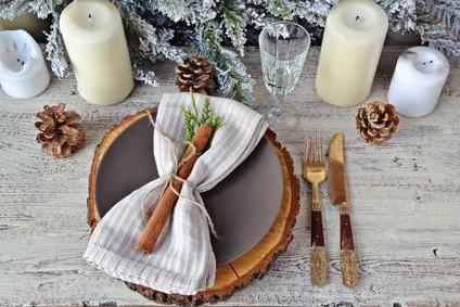 como poner la mesa en Navidad