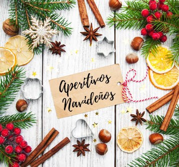christmas background - blank paper card, baking ingredients  and fir branch on a wooden table