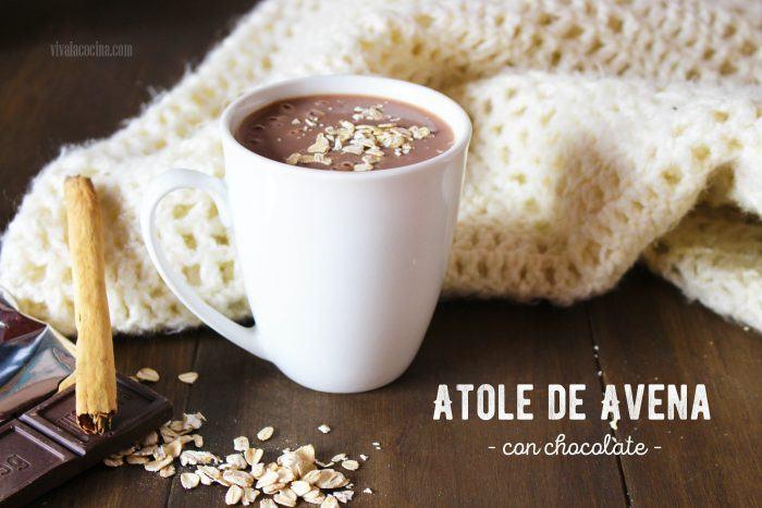 atole de avena con chocolate