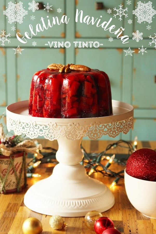 Ingredientes para preparar la gelatina navideña