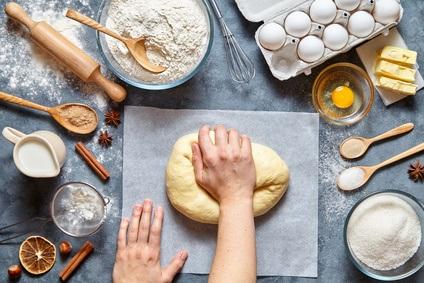 amasado del pan casero