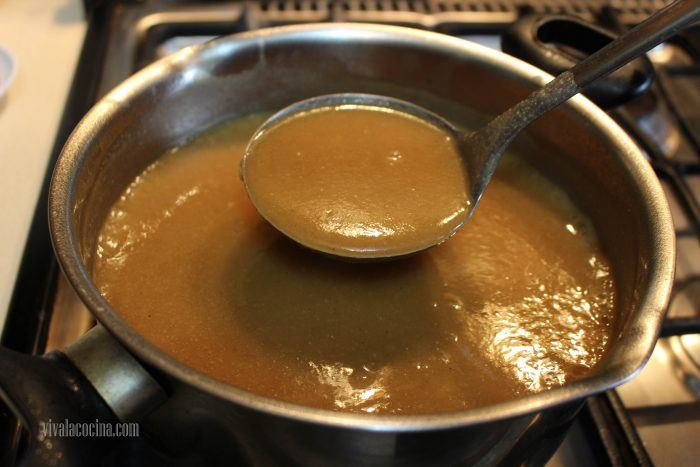 espesar mezcla para preparar atole de pinole
