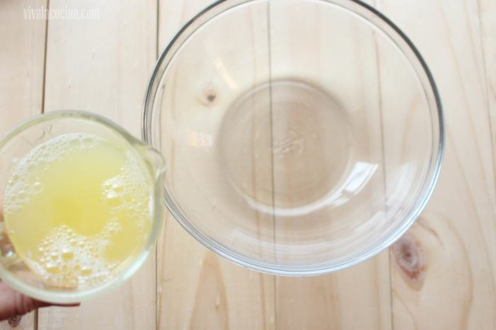 claras de huevo Grenetina para preparar Mousse de Yogur